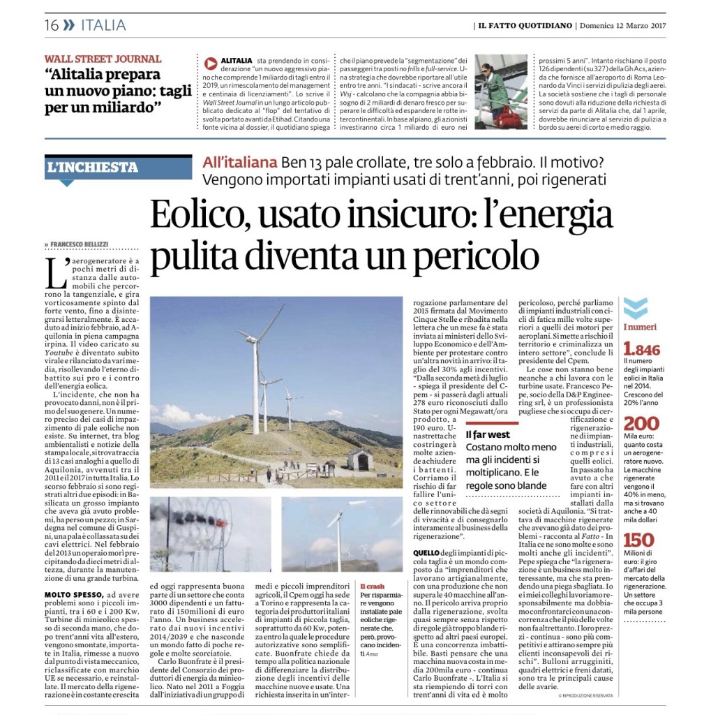 IL FATTO QUOTIDIANO 12.03